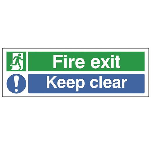 Picture of Fire Exit Keep Clear Rectangular Sign
