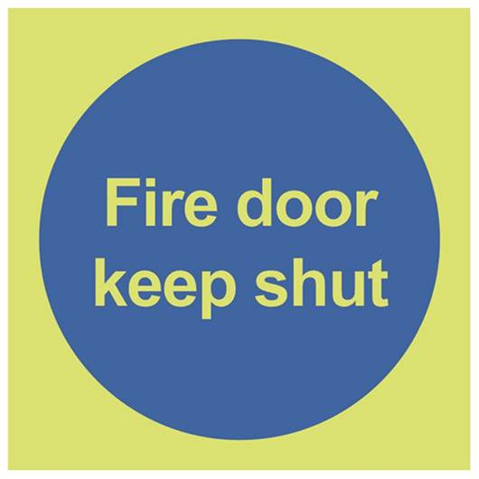 Picture of Photoluminescent Fire Door Keep Shut Sign