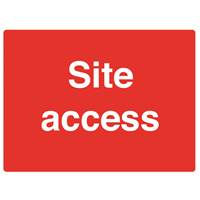 Picture of Site Access Sign