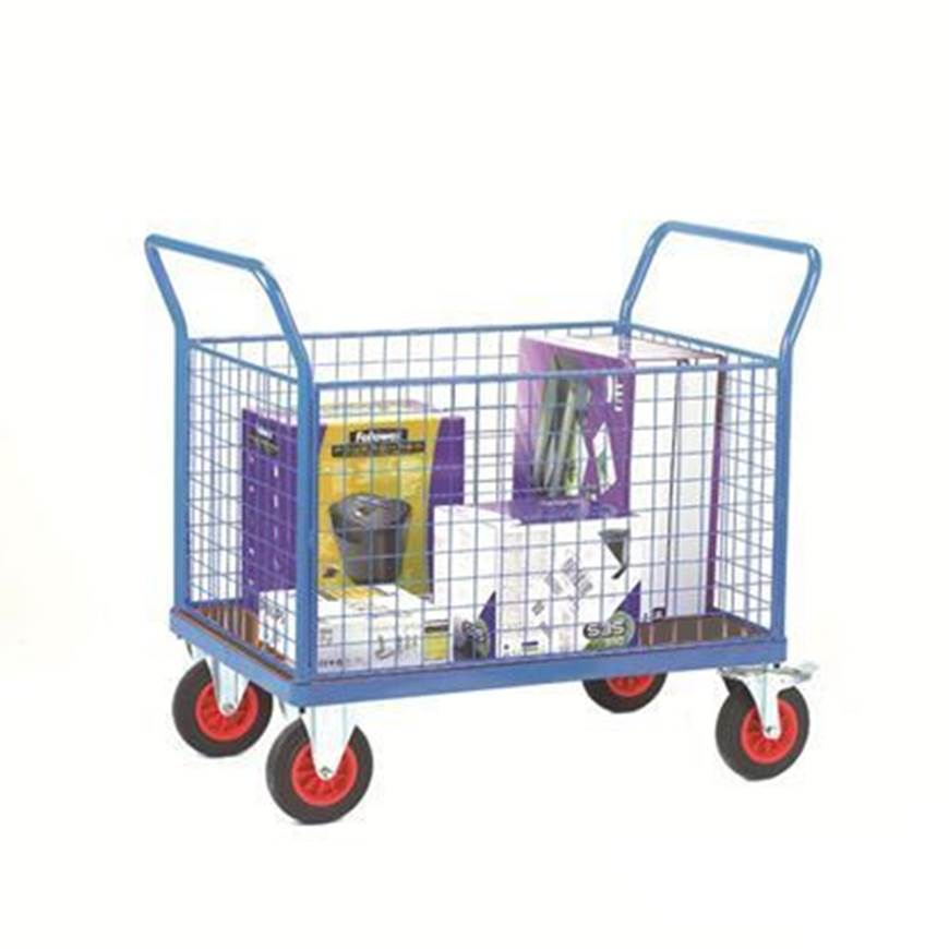 Picture of Fort Phenolic Platform Trucks with Four Mesh Sides