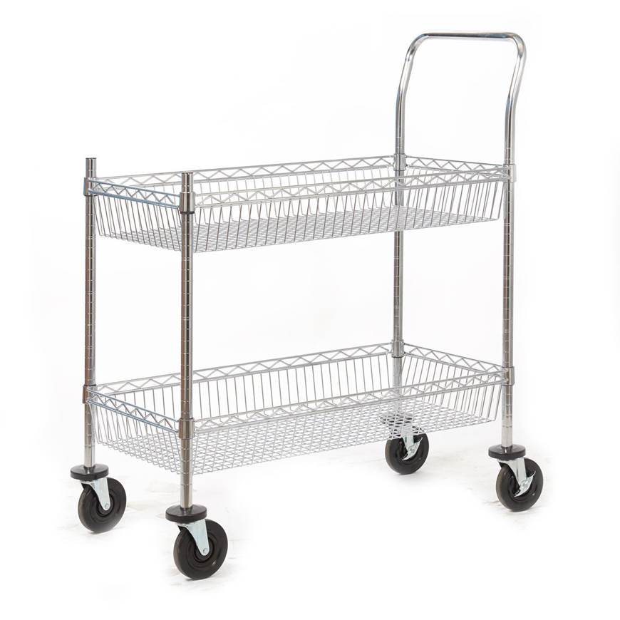 Picture of Premium Chrome Plated Wire Tray Trolley