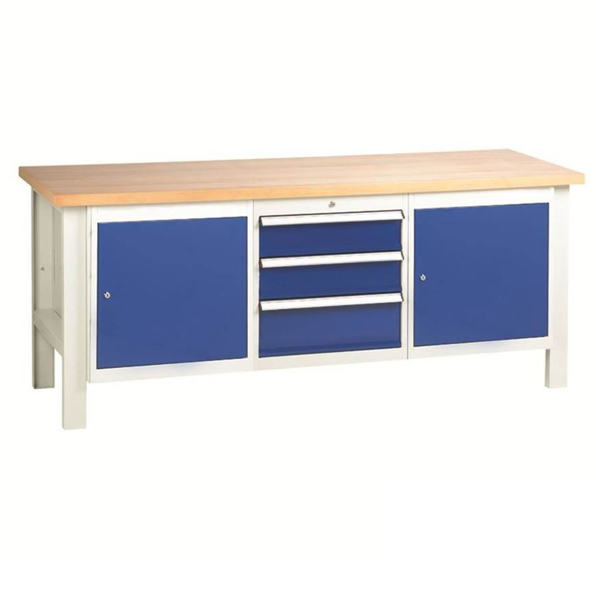 Picture of Heavy Duty Workbenches with 3 Drawer Set & 2 Cupboard Units