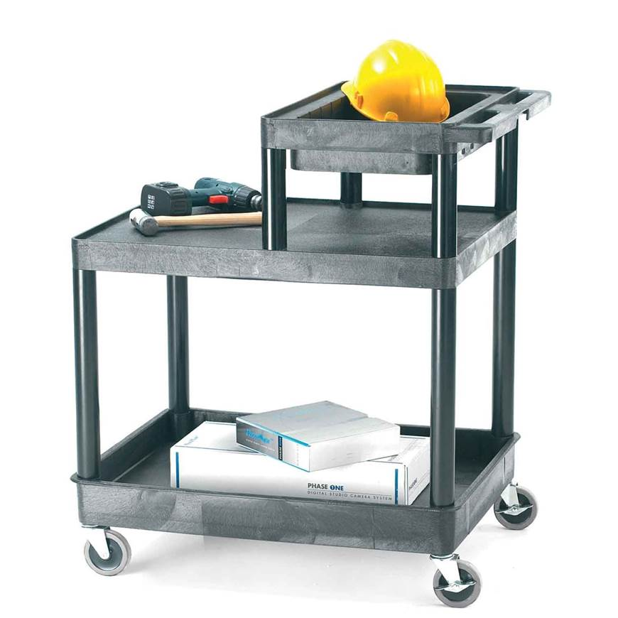Picture of Service Trolleys with Half Shelf Top Tray