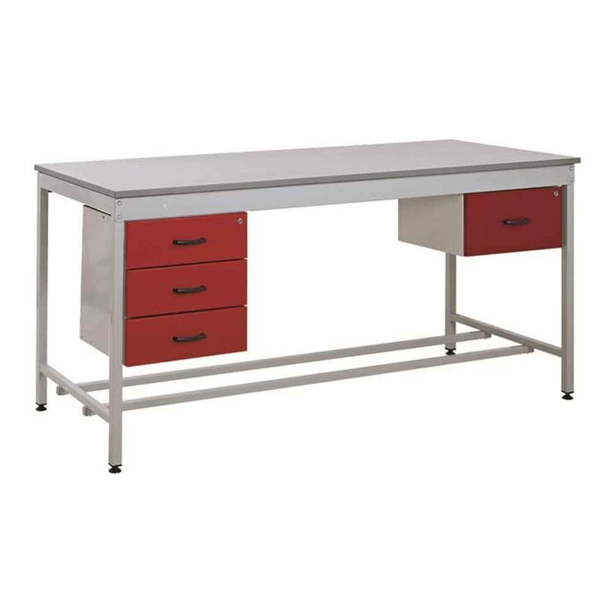 Picture of Taurus Utility Workbench with Triple Drawer & Single Drawer - From Stock