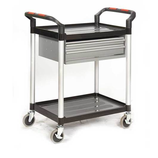Picture of Proplaz Shelf Trolley with Steel Drawers