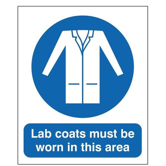 Picture of Lab Coats Must Be Worn In This Area Sign