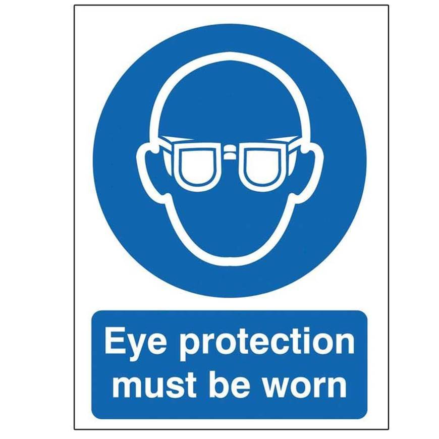 Picture of Eye Protection Must Be Worn Sign