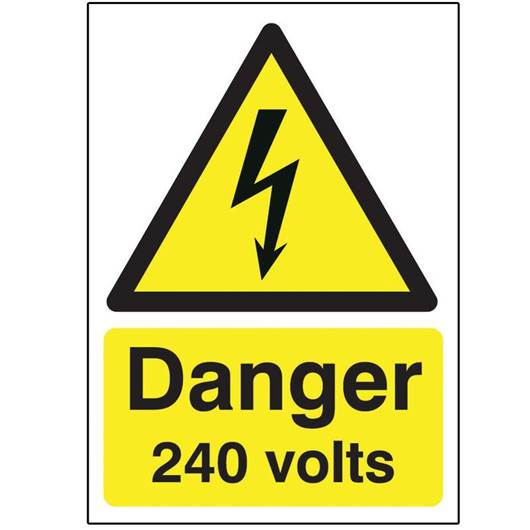 Picture of Danger 240 Volts Sign