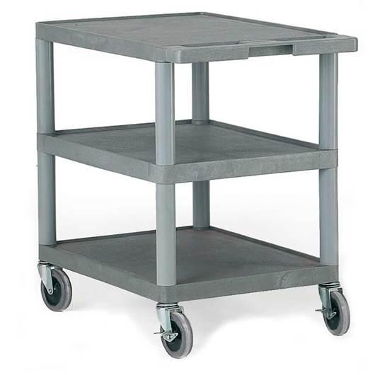 Picture of Standard Grey 3 Shelf Trolley