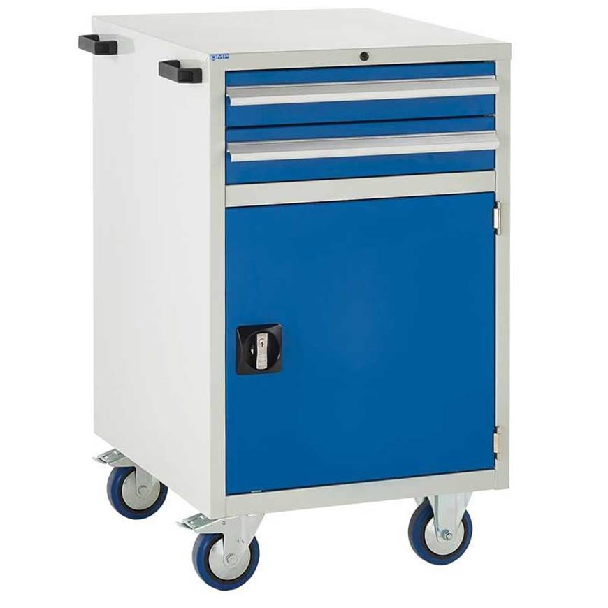 Picture of Mobile Euroslide 2 Drawer Cabinet with Cupboard