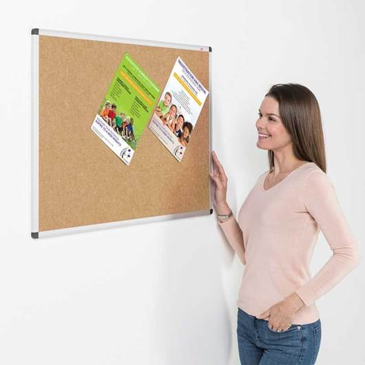 Picture of Eco-Colour® Fire Retardant Aluminium Framed Noticeboards