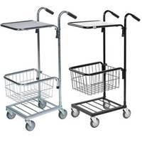Picture of Distribution Trolleys with Adjustable Shelf & Basket