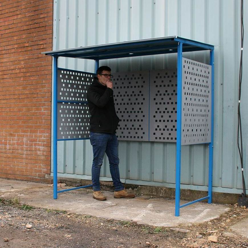 Picture of Economy Smoking Shelter with Steel Sides